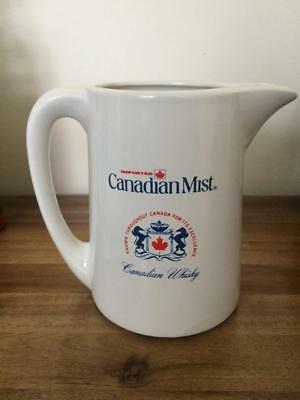 """Canadian Mist Whiskey Ceramic Pitcher 6"""" Tall   NEW"""