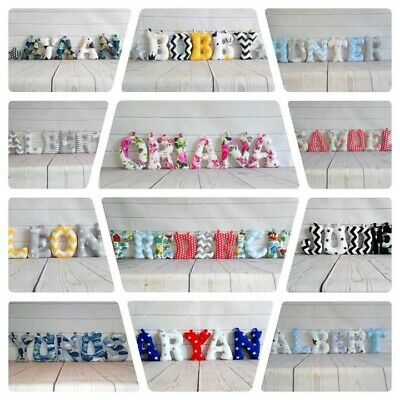 Fabric letters/Name banner/Wall art/Nursery/ Stuffed / Handmade /Personalised