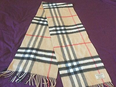87f0335efbf6 Burberry Giant Camel Check Cashmere Scarf Classic BNWT Authentic Unisex  168x30