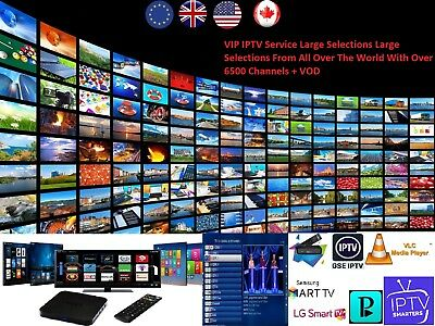 3 Months VIP IPTV SUBSCRIPTION 6500 + LiveTV + VOD+ PPV IPTV SERVICE Stable M3u