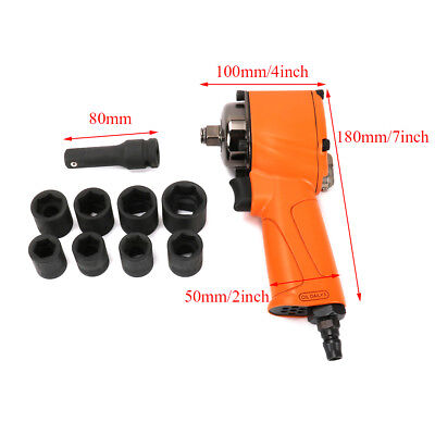 """Pneumatic Air Impact Wrench 1/2"""" Square Drive Kit For Car Auto Repair Tool New"""