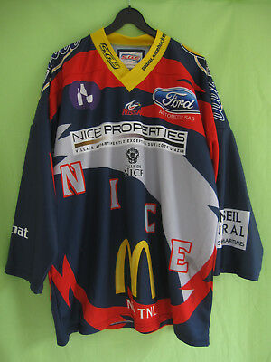 Maillot Hockey Nice NissA SGE les aigles Rouge Jersey Mc Donald's Vintage - XL