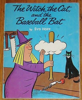 THE WITCH, THE CAT, AND THE BASEBALL BAT : by Syd Hoff : vintage