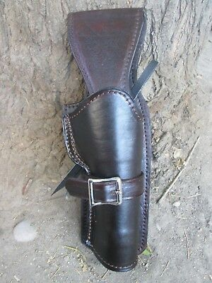 D.A.D CUSTOM LEATHER Plain Leather Western Holster straight Draw Brown or Black