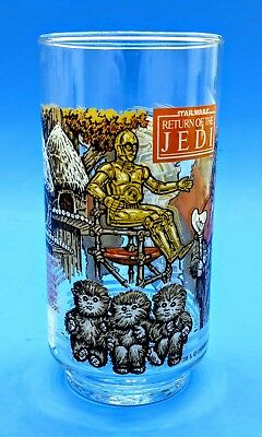 VTG NEW 1983 STAR WARS Return of The Jedi Glass C-3PO Ewok Burger King Coca-Cola