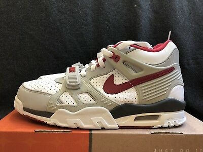 the best attitude 55fbf 4ef60 Nike Air Trainer Iii 3 2001 Retro Bo Jackson Sc White Red Gray Size 10.5 New