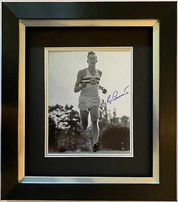 Roger Bannister Hand Signed Framed Photo Display 4 Minute Mile Olympics 1.