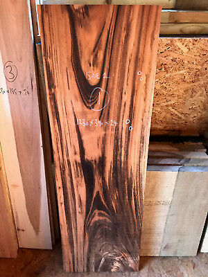 Tigerwood / goncalo alves table top / coffee table top 1230 x 440 x 24mm