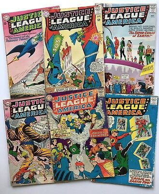 early Justice League Of America 17 18 19 20 21 22 JSA Silver Age lot GD-GD+