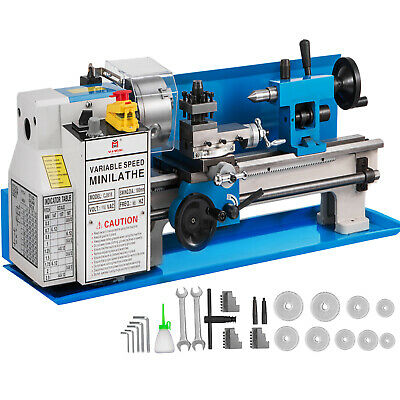 "7""x14"" Mini Metal Lathe Metalworking Tool Variable Speed Infinite DIY Processing"