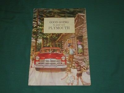 """Vtg 1949 """"Good Going in your new Plymouth"""" Owners Brochure Booklet"""