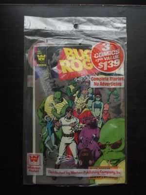 SEALED 1980's WHITMAN 3 PACK - BUCK ROGERS 18, THE ALIENS 2, LOST IN SPACE 59