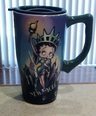 Betty Boop Ceramic Travel Coffee Mug in Excellent Condition