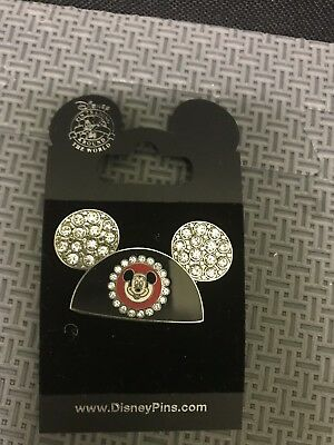 Disney Trading Pin Mickey Mouse Ears Hat With Bling
