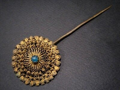 MAGNIFICENT ANTIQUE 1800's. CENTURY FILIGREE JEWELRY PIN!!!