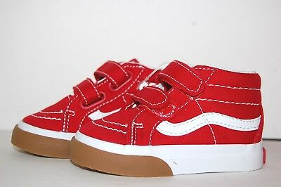 ec506c31f83 Vans Original SK8-Mid Reissue V VN0A348JUK1 Red Canvas Baby Toddler Shoes