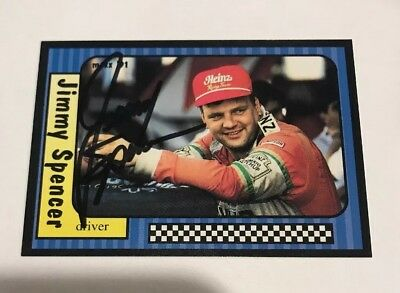 Jimmy Spencer Autographed Signed 1991 Maxx Racing Nascar Trading Card #98