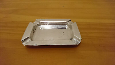 Rare Solid Silver Ashtray Sterling Silver Sheffield 1946 Hallmarks Uk