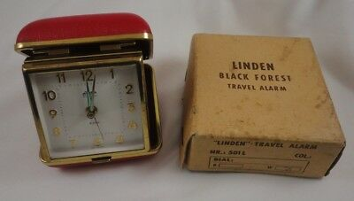 Vintage Linden Black Forest Travel Alarm Clock West Germany