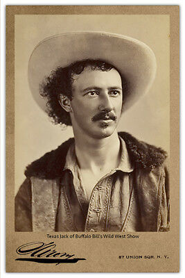 TEXAS JACK.Old West Legend and Wild West Show Star Vintage Photo Cabinet Card RP