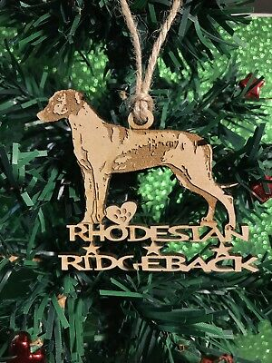 Rhodesian Ridgeback Christmas Ornament & 2 FREE MAGNETS