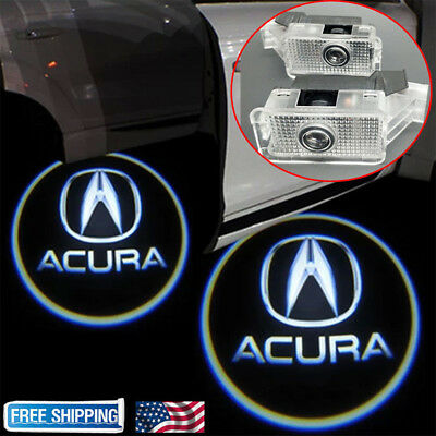 2pcs Laser Door Logo Ghost Shadow Projector Lights For Acura TLX RLX MDX TL ZDX