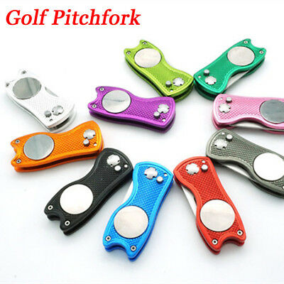 Golf Pitchfork Pitch Groove Cleaner Divot Repair Tool Putting Green Fork