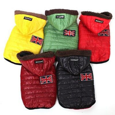 Waterproof Dog Puppy Pet Warm Insulated Padded Coat Winter Puffer Jacket Clothes