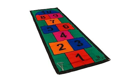 Giant Hopscotch Mat 1x3m Various Colours Indoor Outdoor Fun Games Jenjo Games