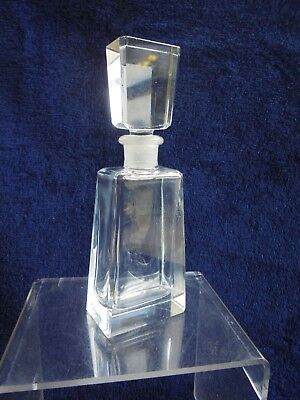 Art Deco Crystal Glass Perfume Bottle Hand Cut Like New