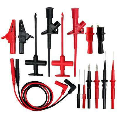 AideTek Automotive 8-in-1 Test Lead Kit Insulation Crocodile Test Clip TLP20168