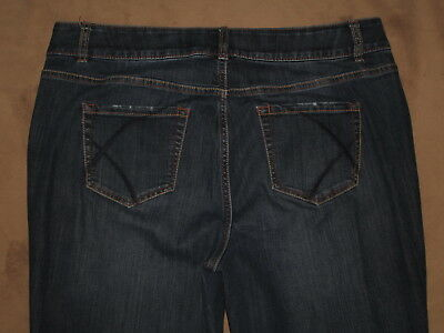 Lane Bryant Size 18 Reg Boot Cut Dark Blue Stretch Denim Womens Jeans