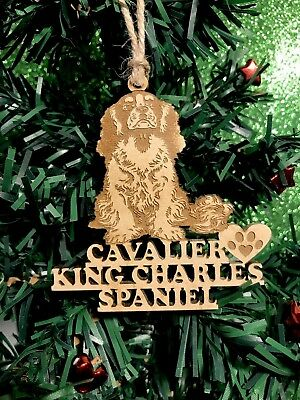 Cavalier King Charles Spaniel Christmas Ornament & 2 FREE MAGNETS