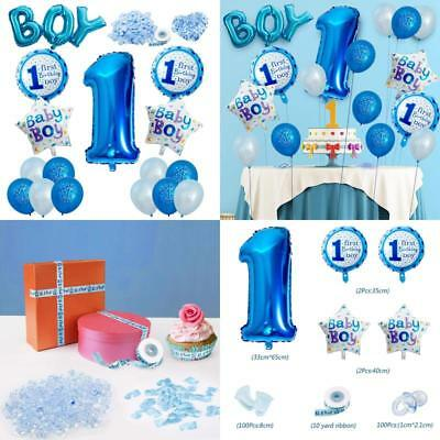 Vordas Happy Birthday Baby Boy Jungen 1 Geburtstag Party Luftballons Set Suppli