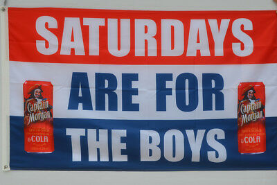 Saturdays are for the boys Captain Morgan  beer flag Banner 3 X 5 Ft