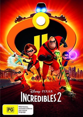 Incredibles 2 (DVD, 2018) (Region 4) New Release