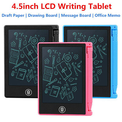 "4.5"" Digital LCD Writing Pad Tablet Drawing Graphics Board Notepad eWriter DH"