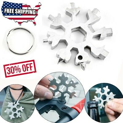 Amenitee 18-in-1 stainless steel snowflakes multi-tool Free Shipping H8252