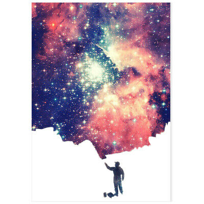Canvas Poster Home Bedroom Kitchen Wall Living Room Painted Starry Sky Decor