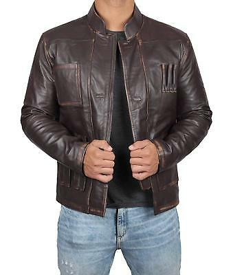 Men's Genuine Leather Brown Lambskin cafe Racer Motorcycle Jacket