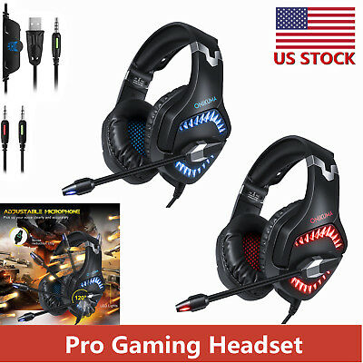ONIKUMA K1 Pro Stereo PC Gaming Headset for PS4 New Xbox One with Mic Headphones