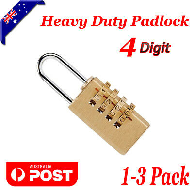 1X 2X 3X 4 Digits Security Padlock Safety Lock Travel Luggage Door Suitcase Bags