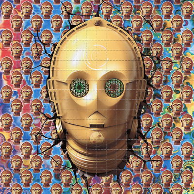 ॐॐॐ C-3PO ॐॐॐ blotter art - psychedelic goa acid artwork