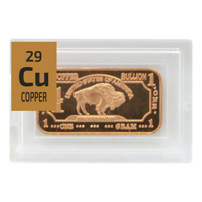 Copper 99.99% metal element sample in Periodic Element Tile. Ingot foil Mixed
