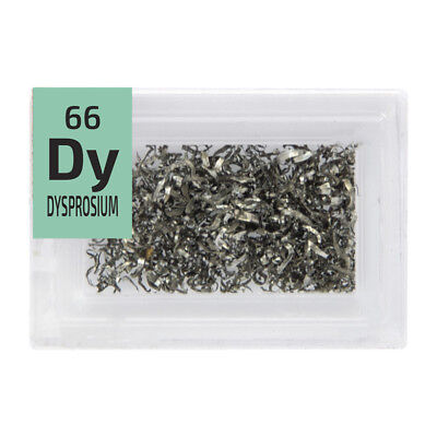 Rare Earth Dysprosium Metal turnings 99.9% Element Dy pure Periodic Element Tile