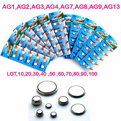 Eunicell AG1 AG2 AG3 AG4 AG6 AG7 AG8 AG9 AG10 AG11 AG12 AG13 Button Batteries UK