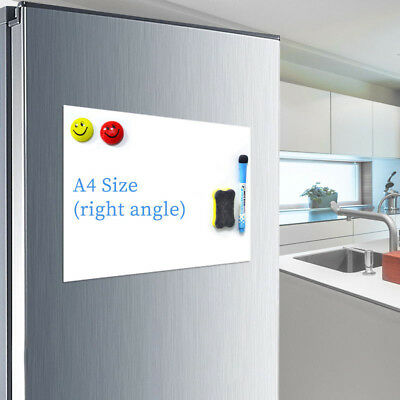 A4 Reminder Fridge Magnetic Whiteboard Family Message Board Office Memo FR