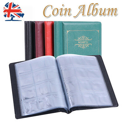 120 Coin Storage Album Penny Money Book Case Folder Holder Collection Collection