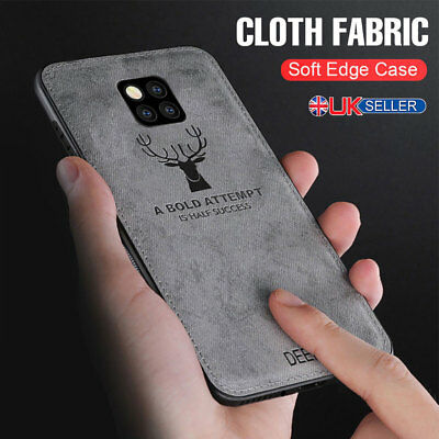For Huawei P30 Pro Lite Cloth Texture Case Soft TPU Rubber Slim Shockproof Cover