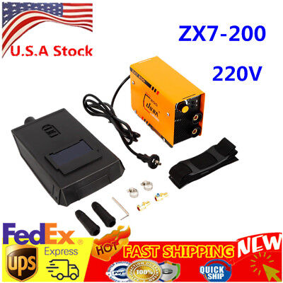 ZX7-200 Mini MMA ARC Welder DC IGBT Welding Machine Solder Inverter 220V + Mask